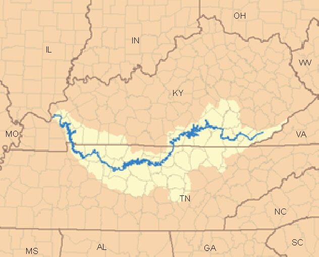 River Maps - Tennessee waterways map