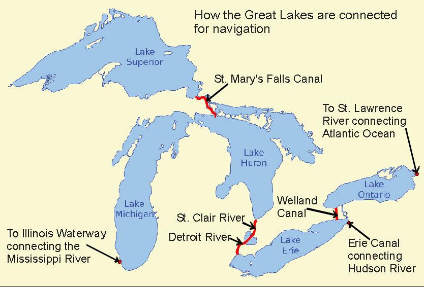 great lakes waterway map Riverlorian Com Great Lakes great lakes waterway map