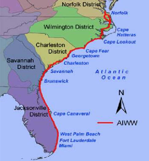 Florida Atlantic Coast Map.Riverlorian Com Intracoastal Waterway