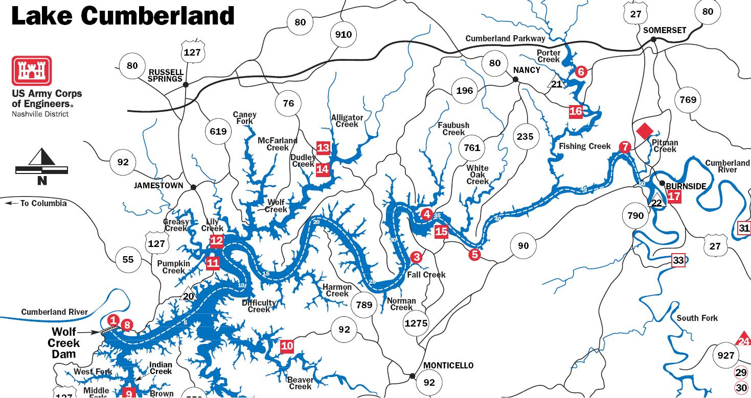 River Maps - Tn lakes map