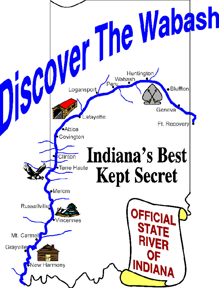 Products With These Designs Available - Indiana rivers map